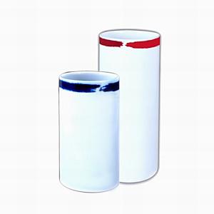2 vases tubes Porcelaine de Limoges déco