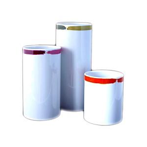Trio de Vases Tubes Porcelaine de Limoge