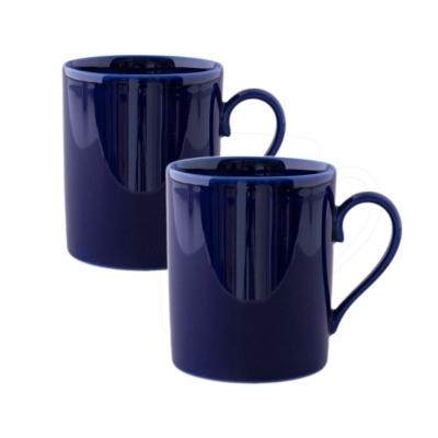 2 Mugs en Porcelaine de Limoges Bleu de