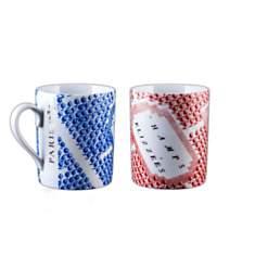 2 Mugs Porcelaine de Limoges décor CHAMP...