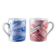 2 Mugs Porcelaine de Limoges FAUBOURG MO...