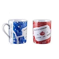 2 Mugs Porcelaine de Limoges décor PLACE...