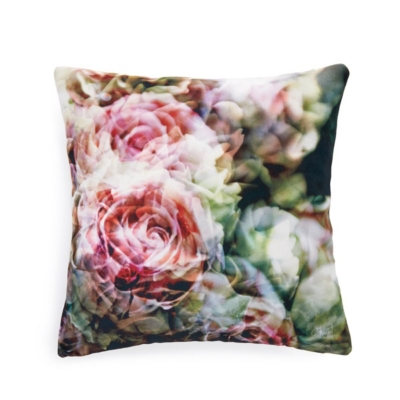 Coussin roses anciennes