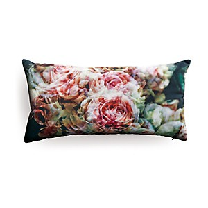 Coussin large roses anciennes