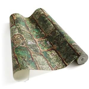 Papier Peint Briques anciennes végétalisées