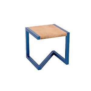 Tabouret design en bois et acier laqué b