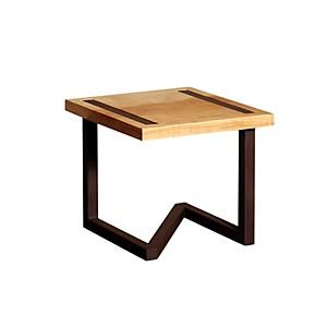 Table de chevet design en bois et acier
