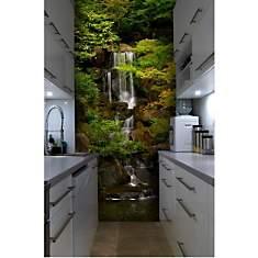 Papier peint japonais jardin et chute d'...