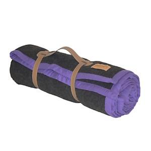 Plaid laine chocolat en haute laine pyré