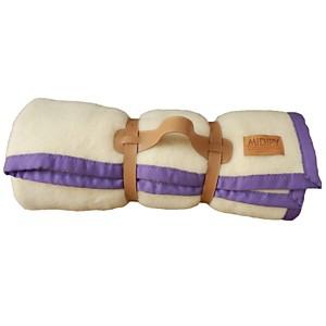 Plaid laine ivoire en haute laine pyréné
