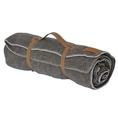 Plaid laine brun en haute laine pyrénéen