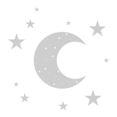 Sticker mural enfant Lune