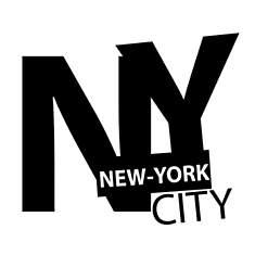 Sticker New York Texte NYC 60x53 cm
