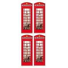 Stickers Londres Les cabines téléphoniqu...
