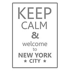 Sticker texte New York Keep calm 50x36 c...