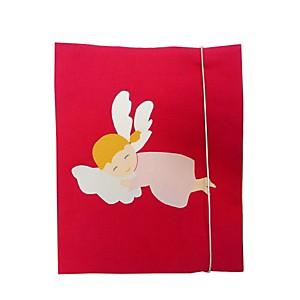 Protège-carnet de santé Ange rose