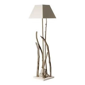 Grande lampe sur pied bois flotté