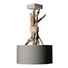 Suspension luminaire en bois flotté gris