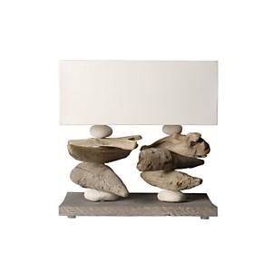 Lampe à poser en bois flotté Lugger Blanc