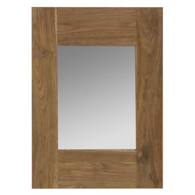 Miroir teck recyclé brossé 70x50
