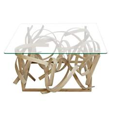 Table basse design en bois et  plateau d...
