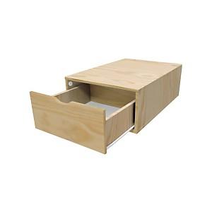 Cube de rangement 75 cm + tiroir Bois