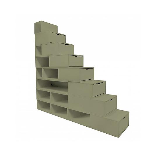 escalier cube de rangement 200 cm. Black Bedroom Furniture Sets. Home Design Ideas