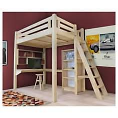 Lit Mezzanine Alpage bois + échelle haut...