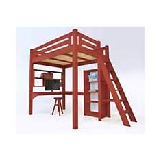Lit Mezzanine Alpage bois + échelle haut