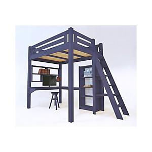 Lit Mezzanine Alpage bois + échelle hauteur réglable