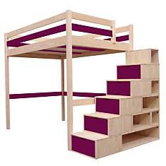 Lit Mezzanine Sylvia avec escalier cube ...