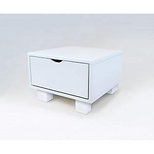 Chevet cube blanc tiroir couleur