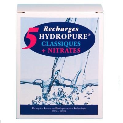 5 recharges filtrantes (filtre Classique + Nitrates) - HYDROPURE