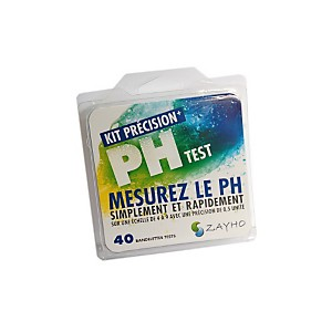 Kit de tests PH Précision echelle 4-9 (40 Tests) - ZAYHO