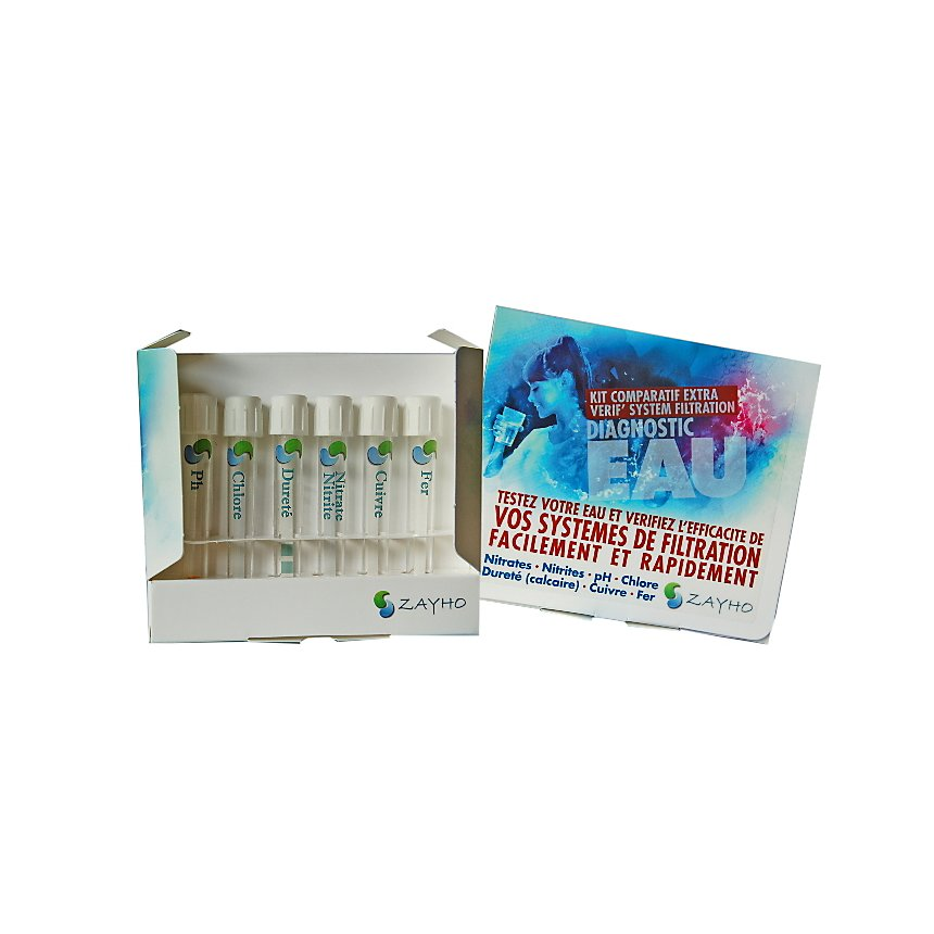 Kit d'analyse eau comparatif Extra Verif - ZAYHO