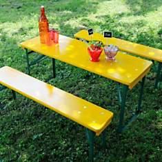 Table pique nique MINI BRASSEURS yellow ...