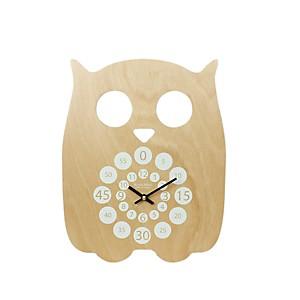 Horloge pédagogique Hiboo gris blanc