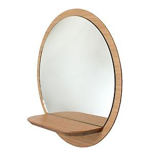 Miroir rond en panneaux plaqué Sunrise M