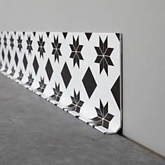 Lot de 5 Plinthes LE Carreau de Ciment M...