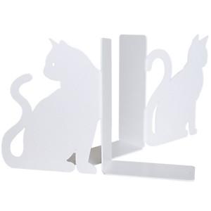 Paire de serre livres en métal Les Chats