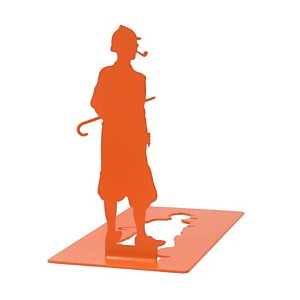 Serre-livres en métal orange Sherlock Ho