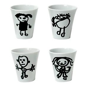 Set de 4 tasses expresso Les bonhommes