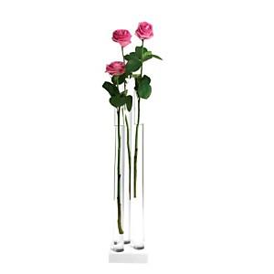 Vase en verre transparent PIA 3 GM