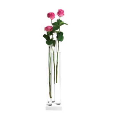 Vase en verre transparent PIA 3 GM