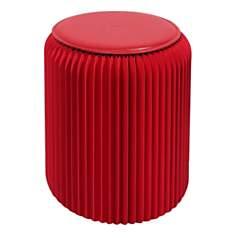 Tabouret pliable rouge rubis