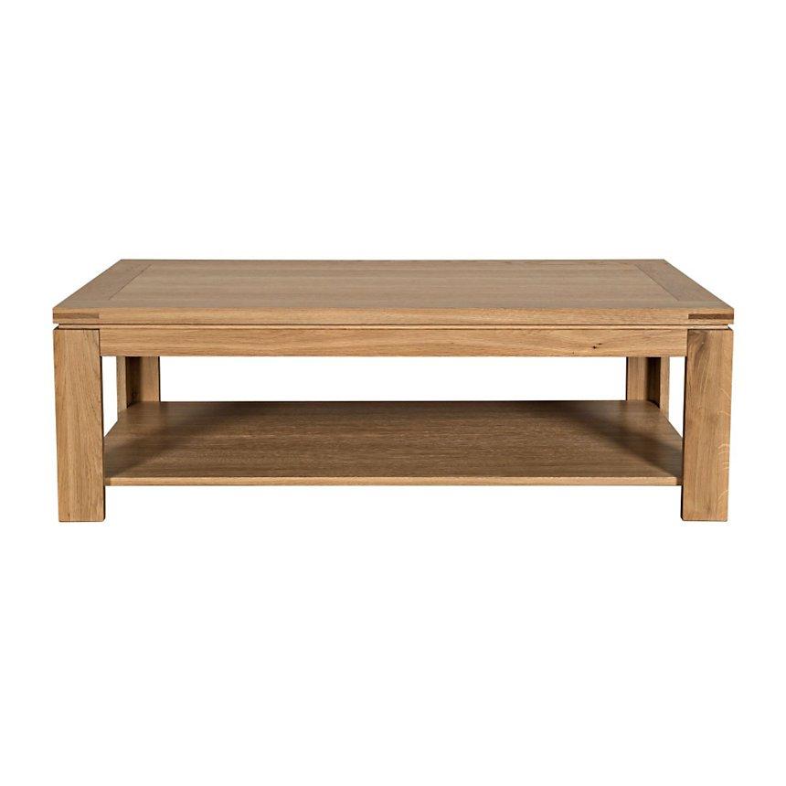 Table basse moderne chêne BOSTON