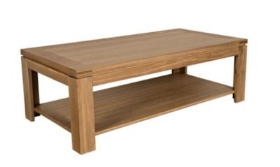 Table basse moderne chêne clair BOSTON