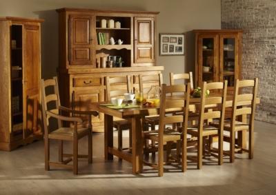 Ensemble Table de Ferme en chene massif 6 chaises LA BRESSE