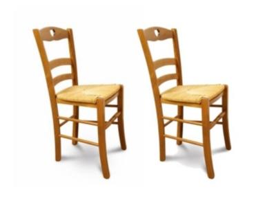 Lot de 2 chaises colorées en hêtre Silva