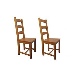 Lot de 2 Chaises en chêne La BRESSE - As